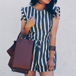 Pants - Striped Romper